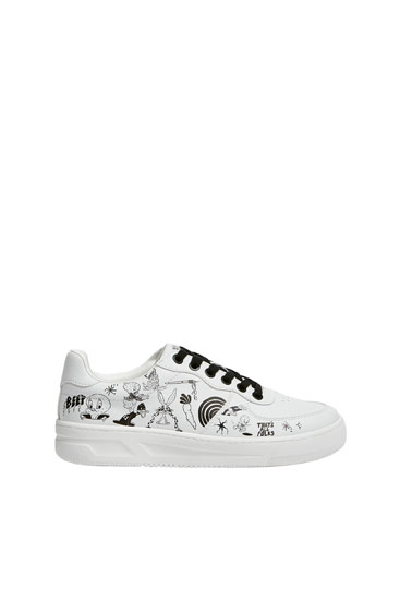 Looney Tunes x Evan Rossell trainers