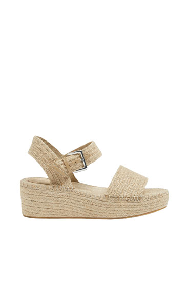 Basic natural jute wedges