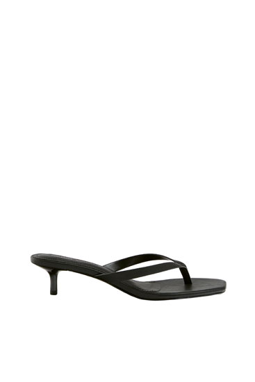Minimalist high-heel sandals