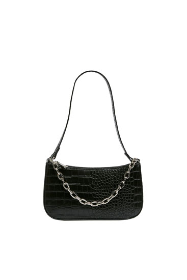 Shoulder bag with a mock croc finish