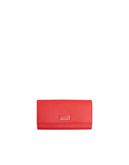 Red purse with flap