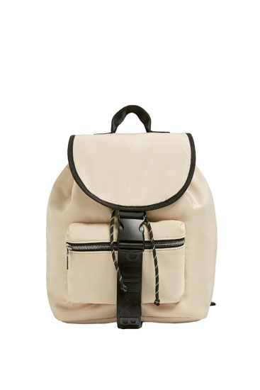 Padded fabric backpack
