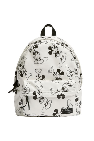 White Mickey Mouse backpack