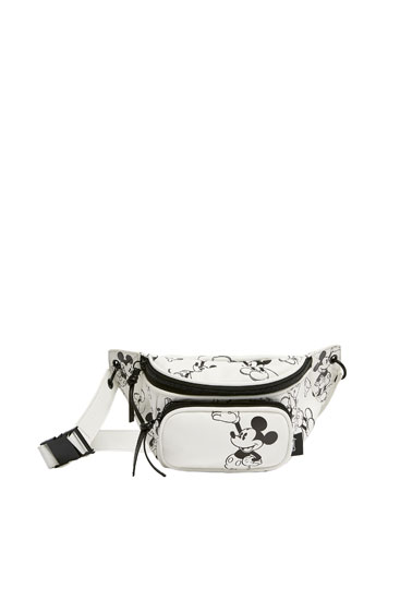 White Mickey Mouse belt bag