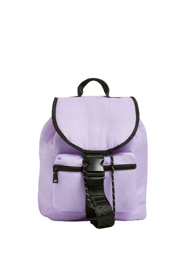 Contrast lilac backpack