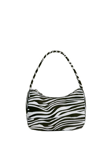 Mini bolso de hombro animal print