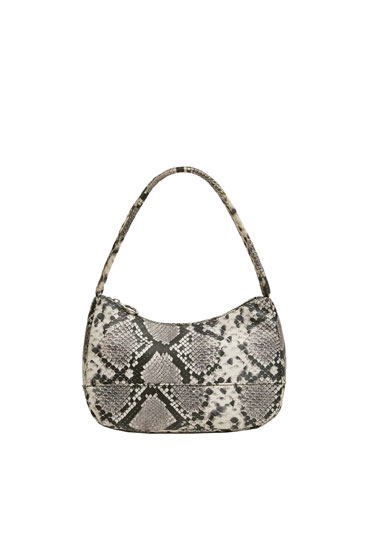 Mini animal print shoulder bag