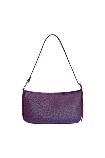 Shoulder bag with a metallic-effect finish
