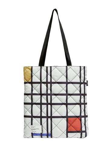 Piet Mondrian reversible tote bag