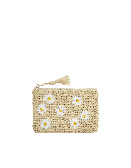 Daisy print toiletry bag