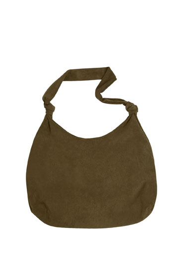 Tote bag with knotted detail