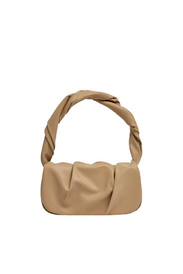 Shoulder bag with gathered detail