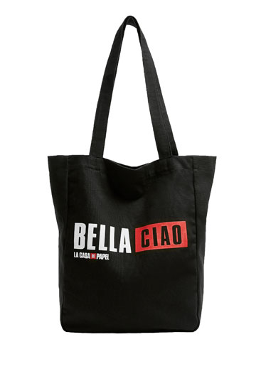 Black Money Heist x Pull&Bear tote bag
