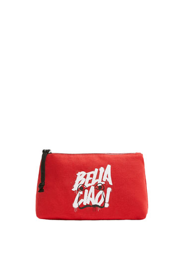 Red Money Heist x Pull&Bear toiletry bag