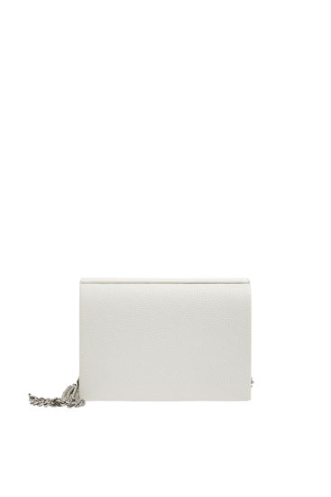 Basic white customised crossbody bag