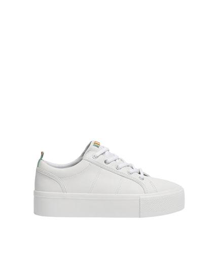 White chunky sole trainers - PULL\u0026BEAR