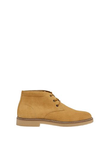 Bottines desert cuir