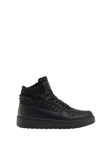 Gecombineerde high-top sneakers