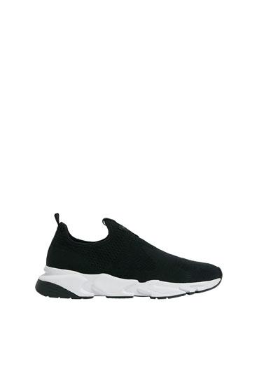 Sock-style sneakers - PULL\u0026BEAR