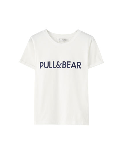 Camiseta logo Pull&Bear color