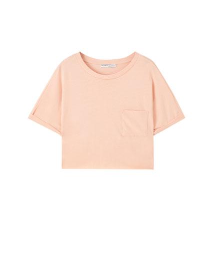T-shirt court basique coton