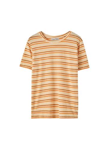 T-shirt basique imprimé rayures
