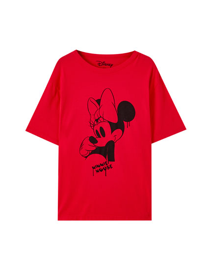 T-shirt Minnie Mouse rouge