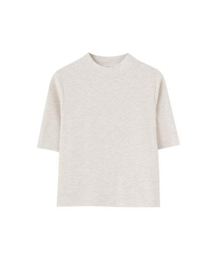 T-shirt col montant doux