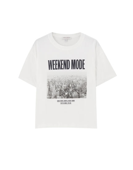 """Weekend mode"" illustration T-shirt"