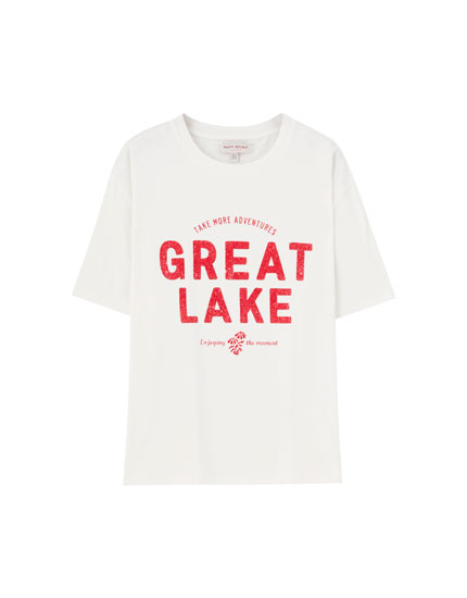 T-shirt blanc « Great Lake »