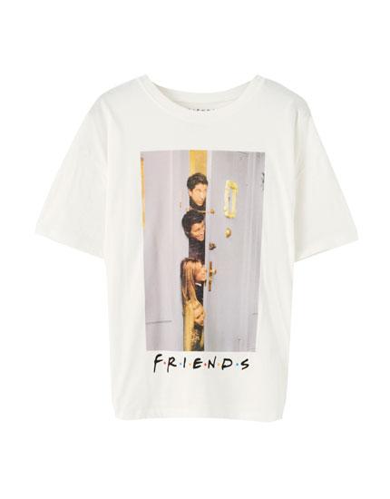 Maglietta Friends bianca porta