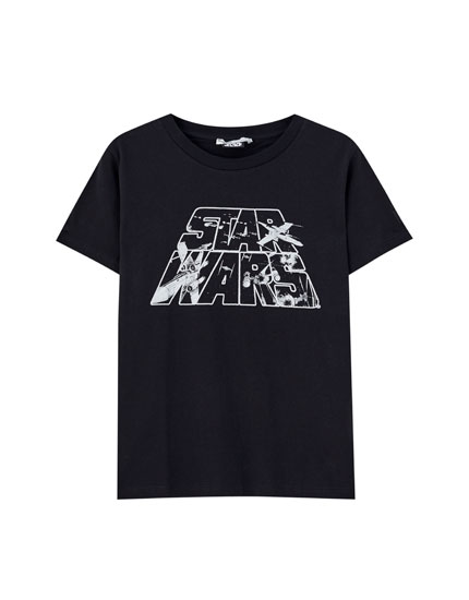 T-shirt STAR WARS vaisseaux
