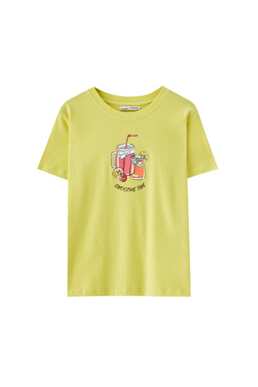Short sleeve T-shirt with illustration