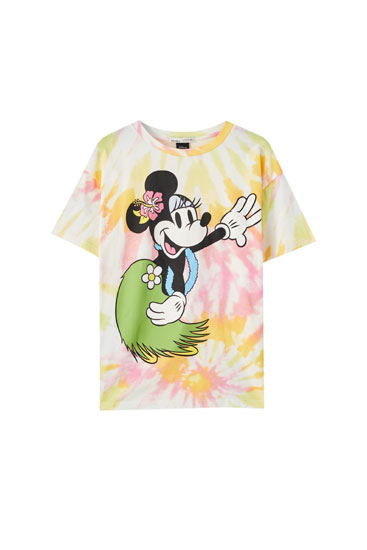 Camiseta Minnie Mouse tie-dye