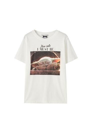 White Baby Yoda T-shirt