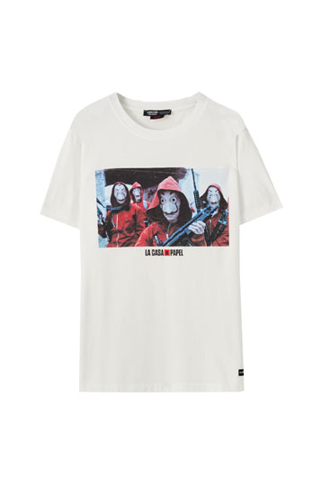 White Money Heist x Pull&Bear T-shirt