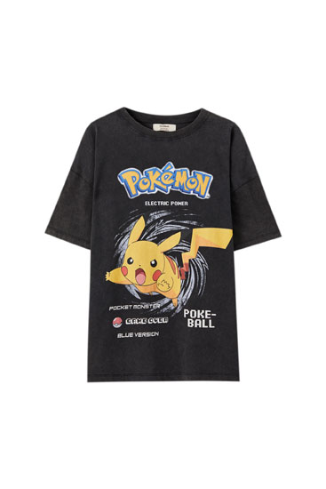 T-shirt do Pokémon com Pikachu