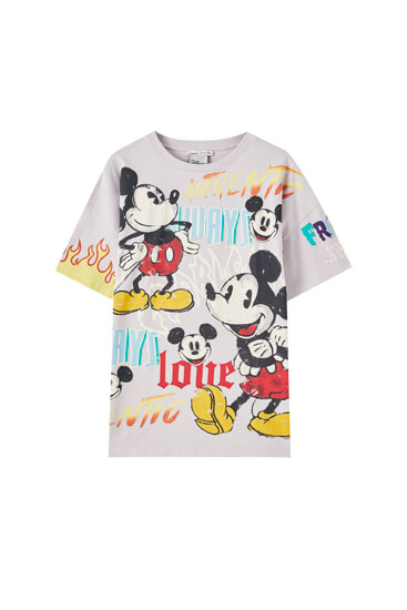 Camiseta Mickey Mouse lila