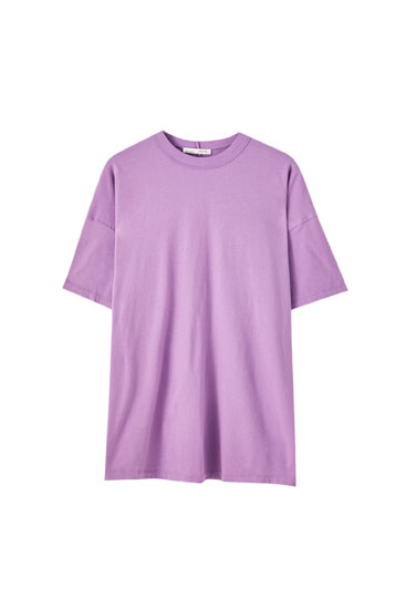 Oversize mock turtleneck T-shirt