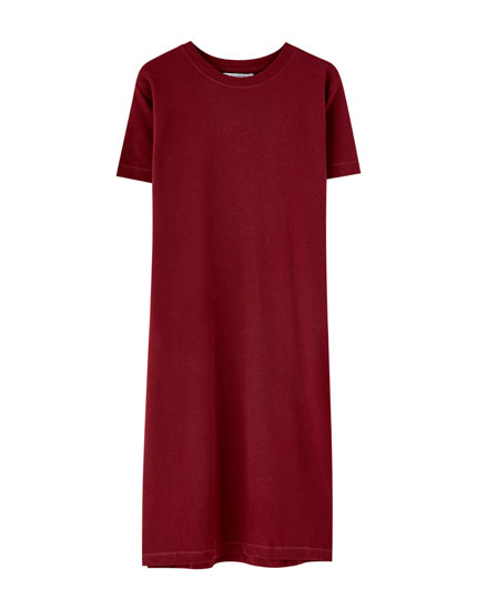 Robe midi coupe t-shirt