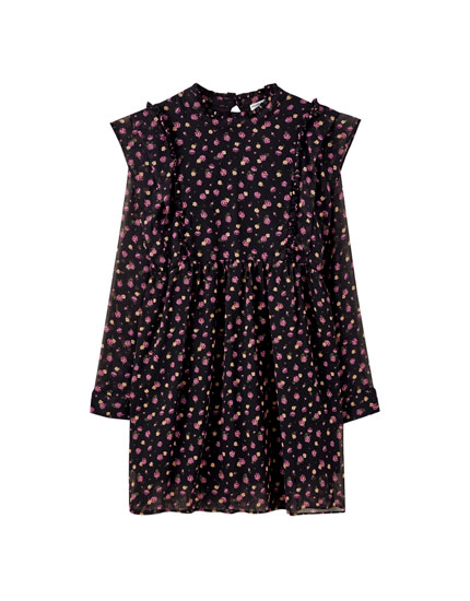 Vestido Largo Flores Pull And Bear Review D831e 9a2c8