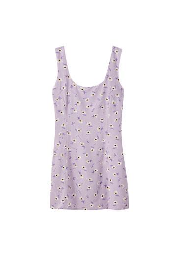 Lilac floral print dress