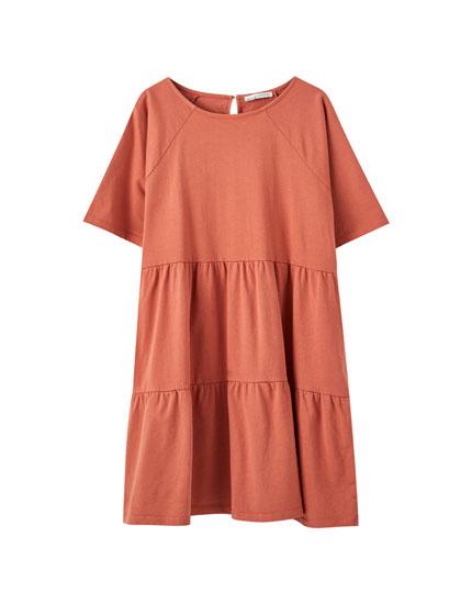 Short sleeve panelled dress