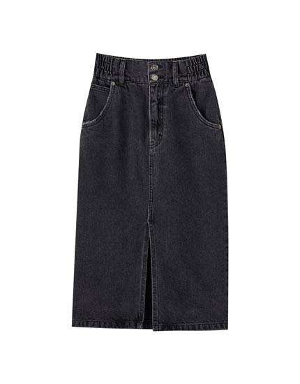 Minifalda vaquera goma cintura