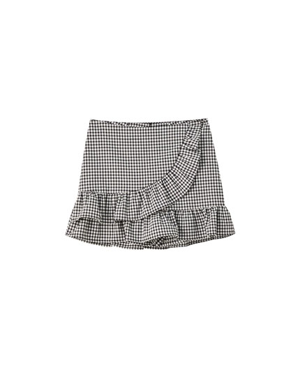 Jupe-short carreaux vichy