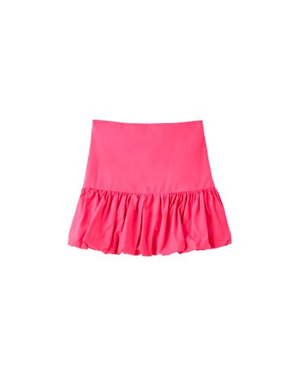 Balloon fit fuchsia mini skirt
