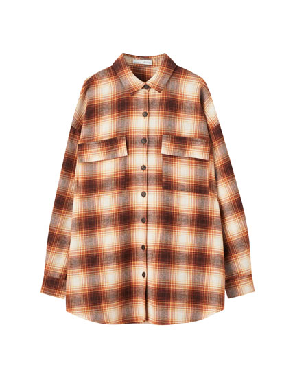 Checked overshirt with pockets