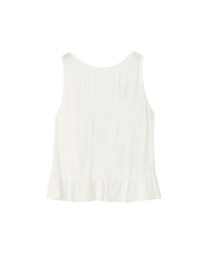 White top with back knot
