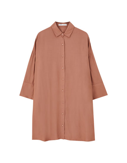 Short basic shirt dress