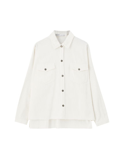 Basic corduroy overshirt